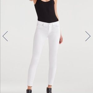 NWT 7 for All Mankind Ankle Skinny - White, Sz 30